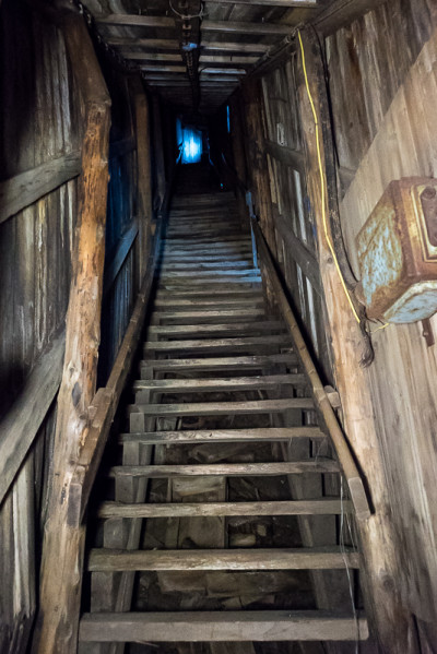 Staircase leading up to the second level of Mine 2B.