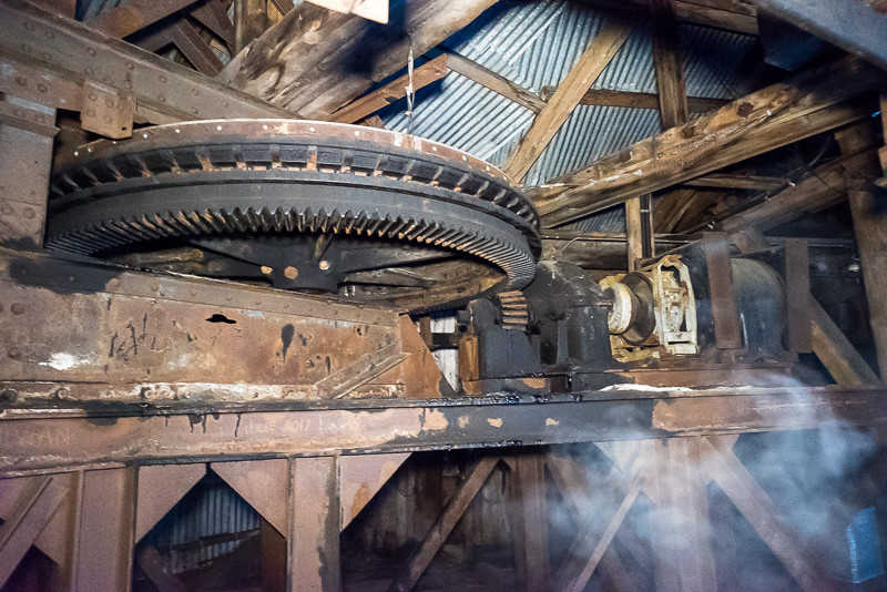 Gears from an old machine inside Mine 2B.