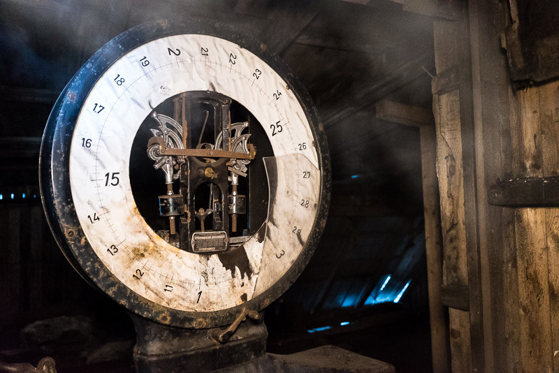 An old clock (or scale?) inside Mine 2B.